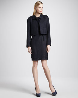 Elie Tahari Nina Jacket & Emory Lace-Hem Dress