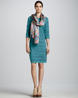 Lilly Pulitzer Cassie Striped Dress & Crown Jewels Scarf