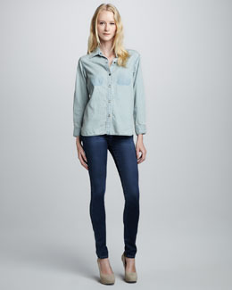 Current/Elliott The Perfect Denim Shirt & The Skinny Jeans