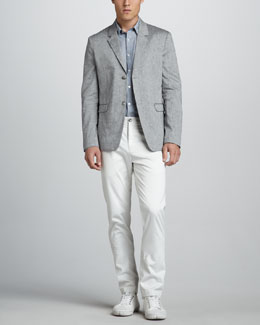 Theory Cotton-Linen Blazer, Zack Sport Shirt & Zaine Slim Pants