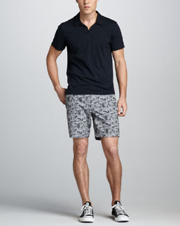 Theory Willem Slub Polo & Karl Printed Shorts