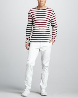 Theory Striped Long-Sleeve Tee & Zaine Slim Pants