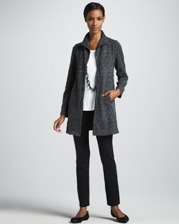 Eileen Fisher Terrazzo Stretch Jacket, Linen Tank & Organic Skinny Pants