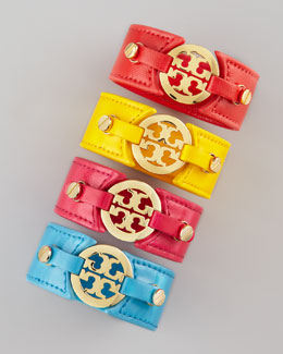 Tory Burch Logo Double-Snap Cuff