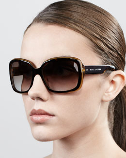 Marc Jacobs Thick-Rim Rectangle Sunglasses