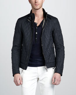 Belstaff Brambley Quilted Racer Jacket & Wollaston Moto Henley