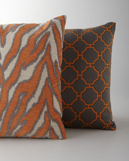 Patterned Pillows in Shades of Orange