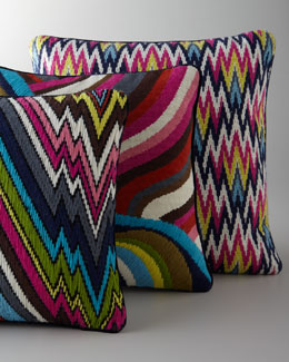 Jonathan Adler Hand-Embroidered Bargello Pillows