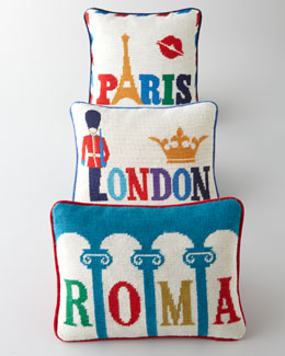 "Jonathan Adler ""Jet Set""  Needlepoint Pillows"