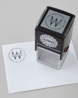 Three Designing Women Circle Initial Address Stamp & Ink Pads
