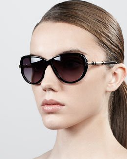 Givenchy Semi-Round Gradient Butterfly Sunglasses