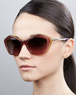 Miu Miu Pentagon Cat-Eye Sunglasses