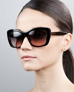 Miu Miu Oversized Rectangle Sunglasses