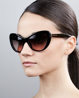 Miu Miu Rounded Cat-Eye Sunglasses