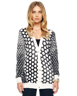 MICHAEL Michael Kors  Dotted V-Neck Cardigan