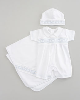 Kissy Kissy Summer Whites Hat, Playsuit & Blanket