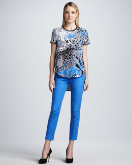 DKNY Print High-Low Top & Ankle Skinny Pants