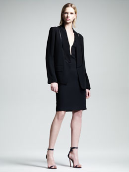 Alexander Wang Cutout Blazer & Slim V-Neck Dress