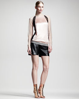 Reed Krakoff Colorblock Sport Sweatshirt & Boxer Shorts