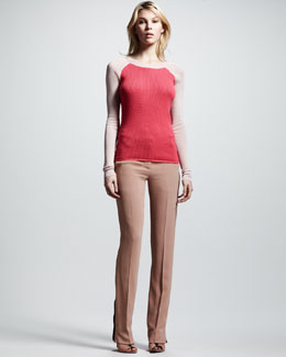 Reed Krakoff Thermal Baseball Tee & Slim Trousers