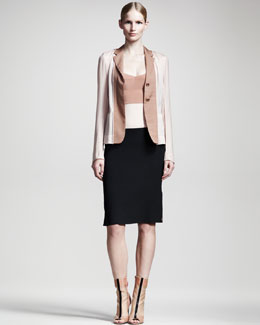 Reed Krakoff Colorblock Layered Jacket & Slip Dress
