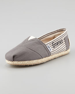 TOMS Monogrammed Classic University Slip On, Ash