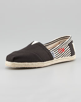 TOMS Monogrammed Classic University Slip On, Black
