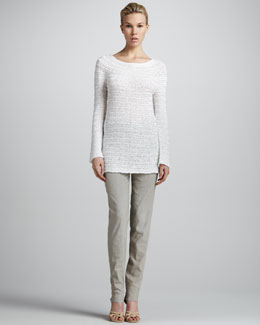 Donna Karan Long-Sleeve Sweater & Cuffed Fold-Over Pants