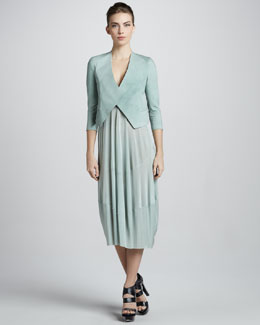 Donna Karan Folded Crepe Jacket & Foundation Dress