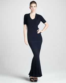 Donna Karan Short-Sleeve Shrug, Cap-Sleeve Tunic & Strapless Pleated Infinity Skirt/Dress