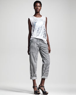 Kelly Wearstler Cyclone Graphic Tank & Practitioner Striped Pants