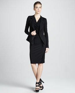 Donna Karan Cascading Lapel Jacket, Superfine Jersey Top & Pull-On Stretch Skirt