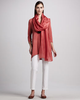 Eileen Fisher Slim Ankle Pants, Whisper Silk Tunic & V-Neck Tunic