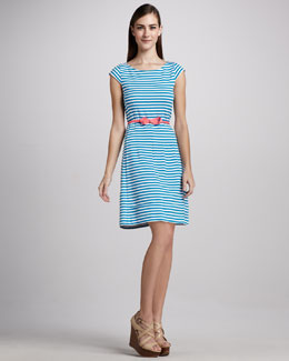 Lilly Pulitzer Classic Briella Ponte Knit Dress & Bow Tie Faille Belt