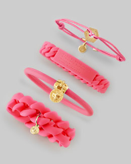 MARC by Marc Jacobs Logo-Detailed Bracelets, Knockout Pink