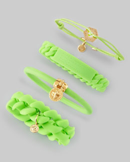 MARC by Marc Jacobs Logo-Detailed Bracelets, Toucan Green