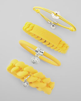 MARC by Marc Jacobs Logo-Detailed Bracelets, Safety Yellow