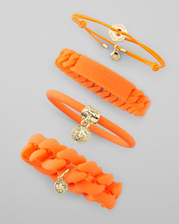 MARC by Marc Jacobs Logo-Detailed Bracelets, Fluoro Orange