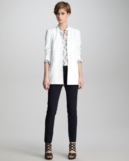 Theory Rokel Light Tivona Blazer, Diamond-Ikat Aquilina Blouse & Temptation Leska Pants