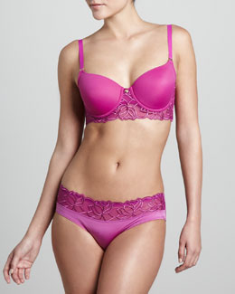 Natori Reverie Sweetheart Contour Bra & Girl Briefs, Bright Viola