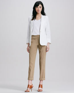 Theory Relaxed Linen Blazer & Rumer Relaxed Cuffed Pants