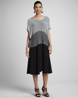 Eileen Fisher Open-Twist Knit Cropped Top & Sleeveless Jersey Maxi Dress