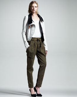 ALC Shaw Leather Jacket & Randall Slim Belted Pants