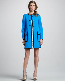 Nanette Lepore Magic Moment Colorblock Dress & Duster Coat