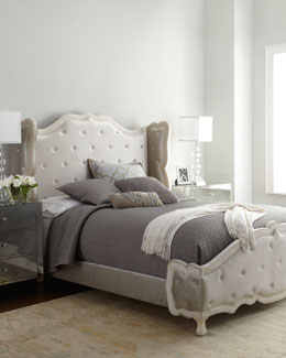 "Haute House Champagne ""Tabitha"" Tufted Bed"