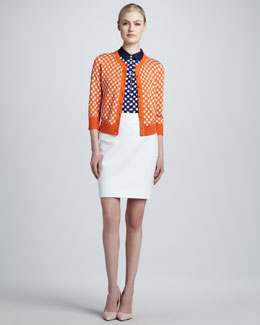 kate spade new york kati check-print cardigan, fey sleeveless check-print top, & judy pencil skirt