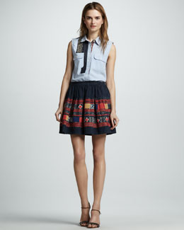 Sachin + Babi Magnolia Sleeveless Blouse & Sabina Embroidered Skirt