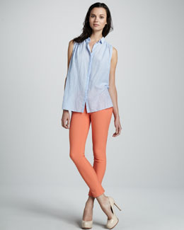 Elizabeth and James Kasidy Sleeveless Chambray Top and Wyatt Knit Pants