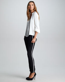 Elizabeth and James Tabitha Silk Blouse & Christian Tuxedo Track Pants