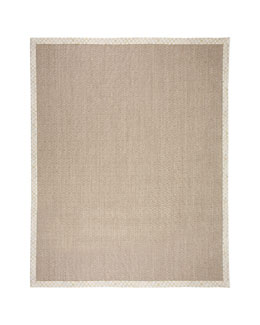 MacKenzie-Childs Parchment Check Sisal Rug